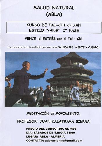 Cartel Taichi por Album de fotos de deportes de Abla - Almeria.